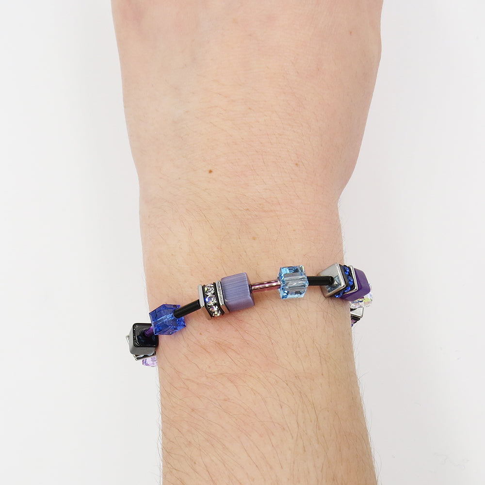 PURPLE CAT EYE GEOCUBE BRACELET