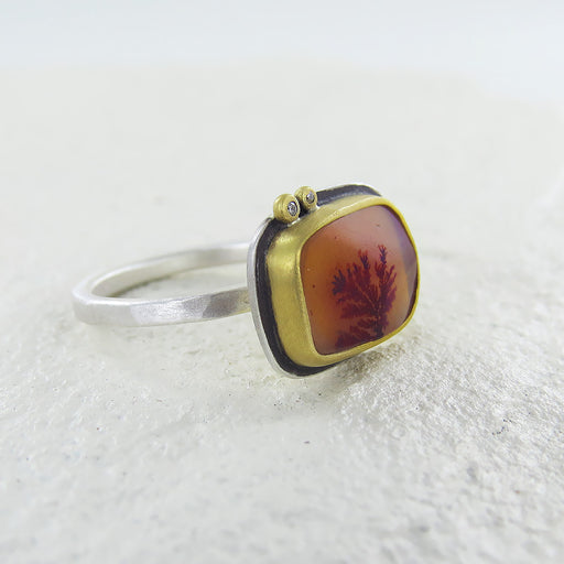 ONE OF A KIND DENDRITIC AGATE RING
