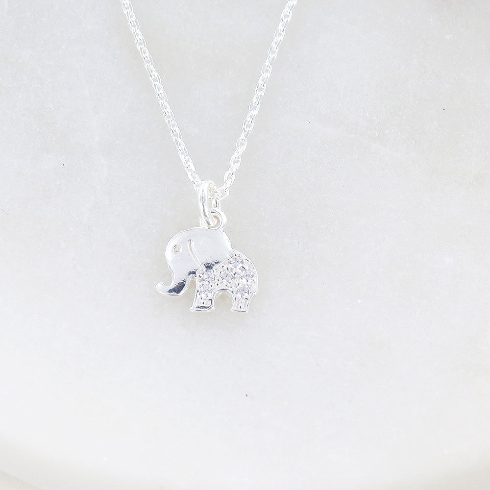 LITTLE ELEPHANT WITH SPARKLE NECKLACE