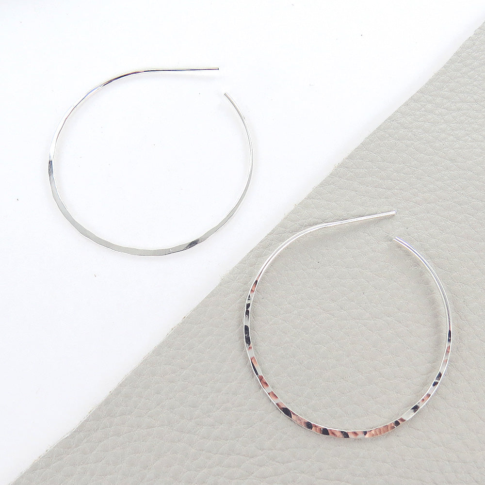 LARGE THIN HAMMERED HOOP