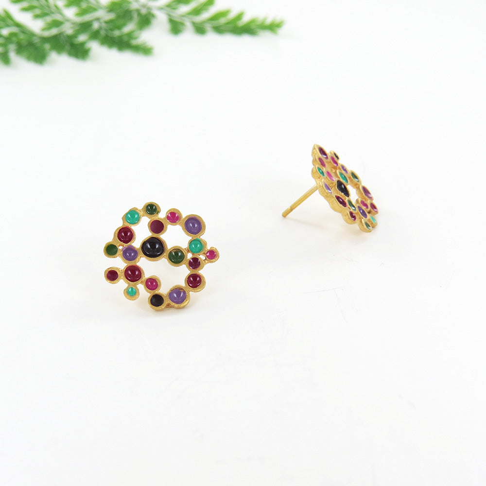 CANDY COLOURS LARGE STUD GOLD