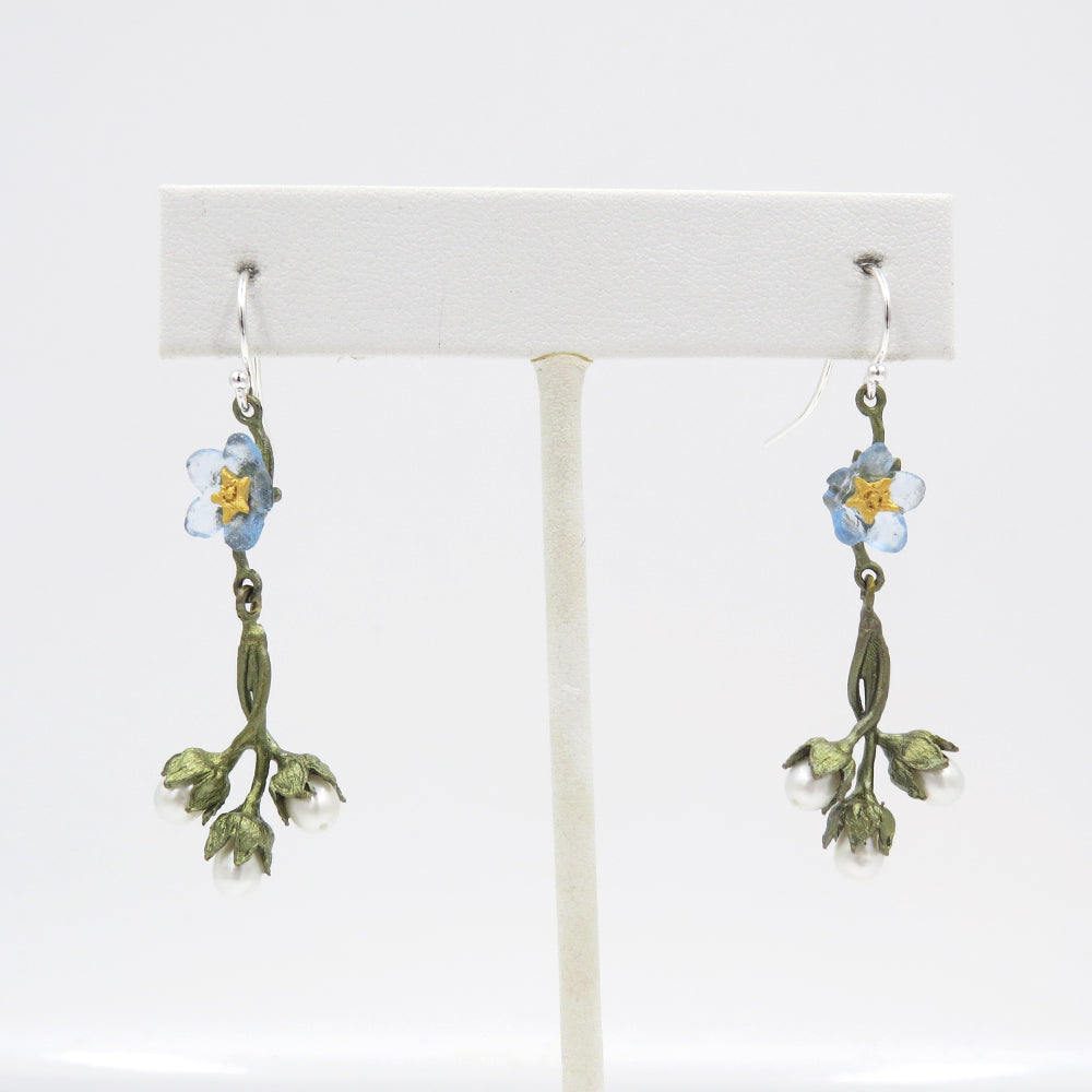 FORGET ME NOT FLOWERS WIRE EARRINGS