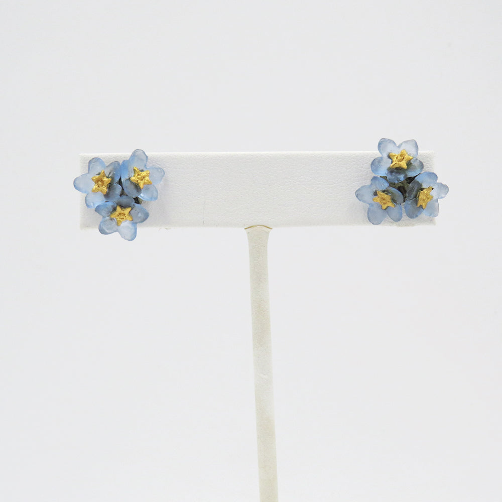 FORGET ME KNOT 3 FLOWERS STUD