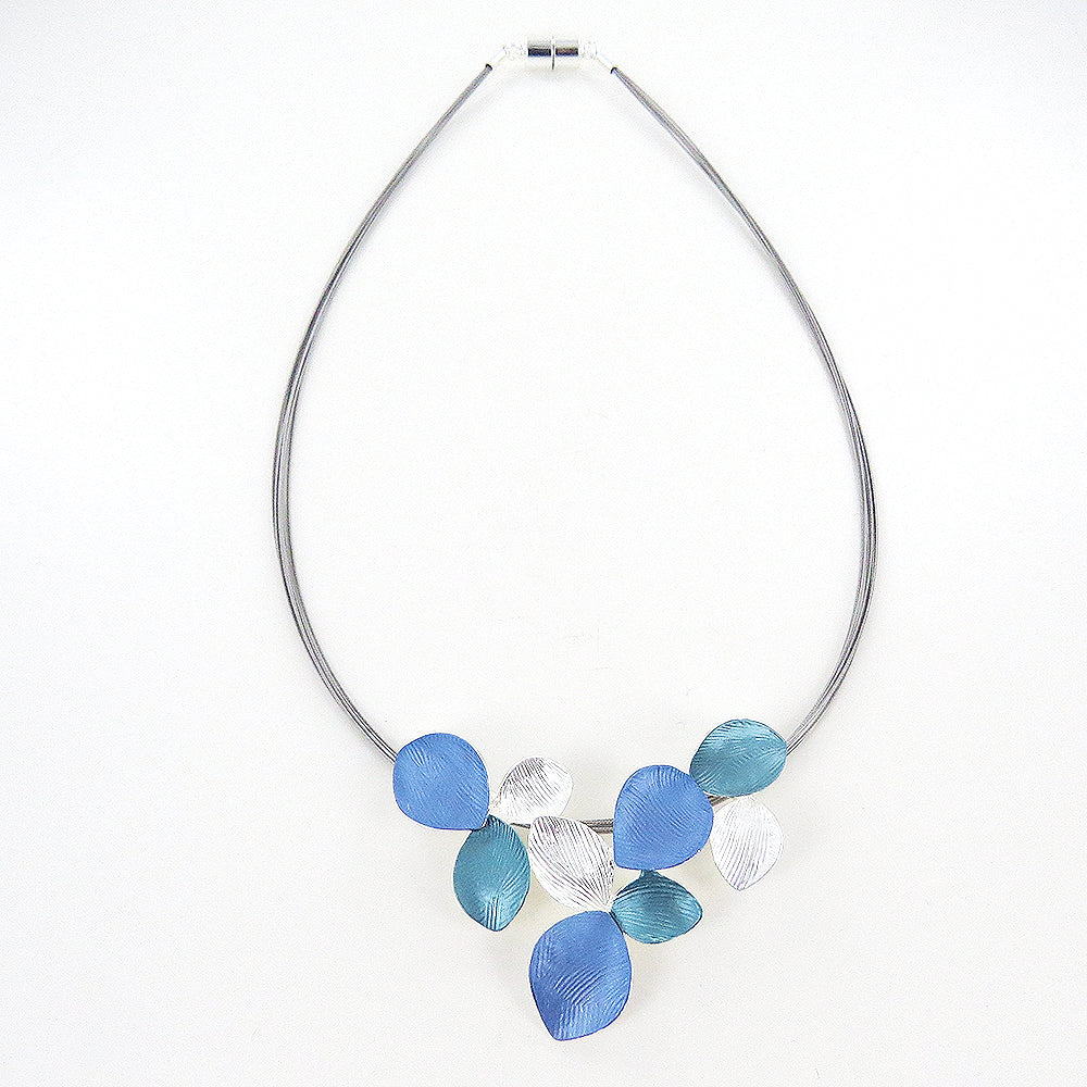 BLUE AND GREEN MULTI LILY NECKLACE