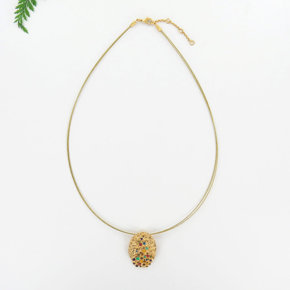 PUNTILLISTA GOLDEN SMALL CHOKER