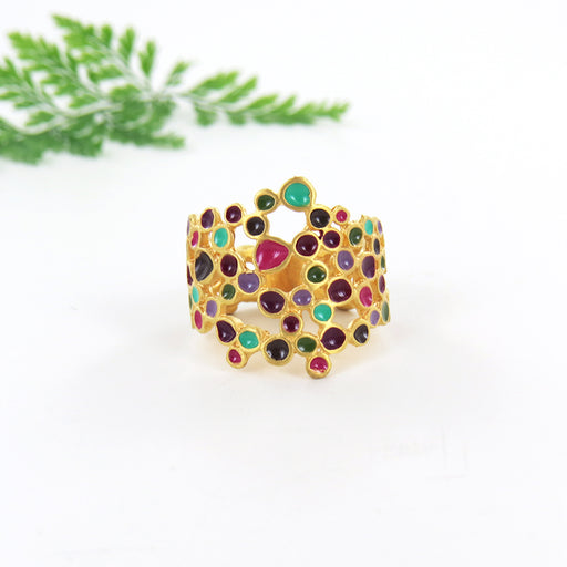 CANDY COLOURS BAND RING GOLD