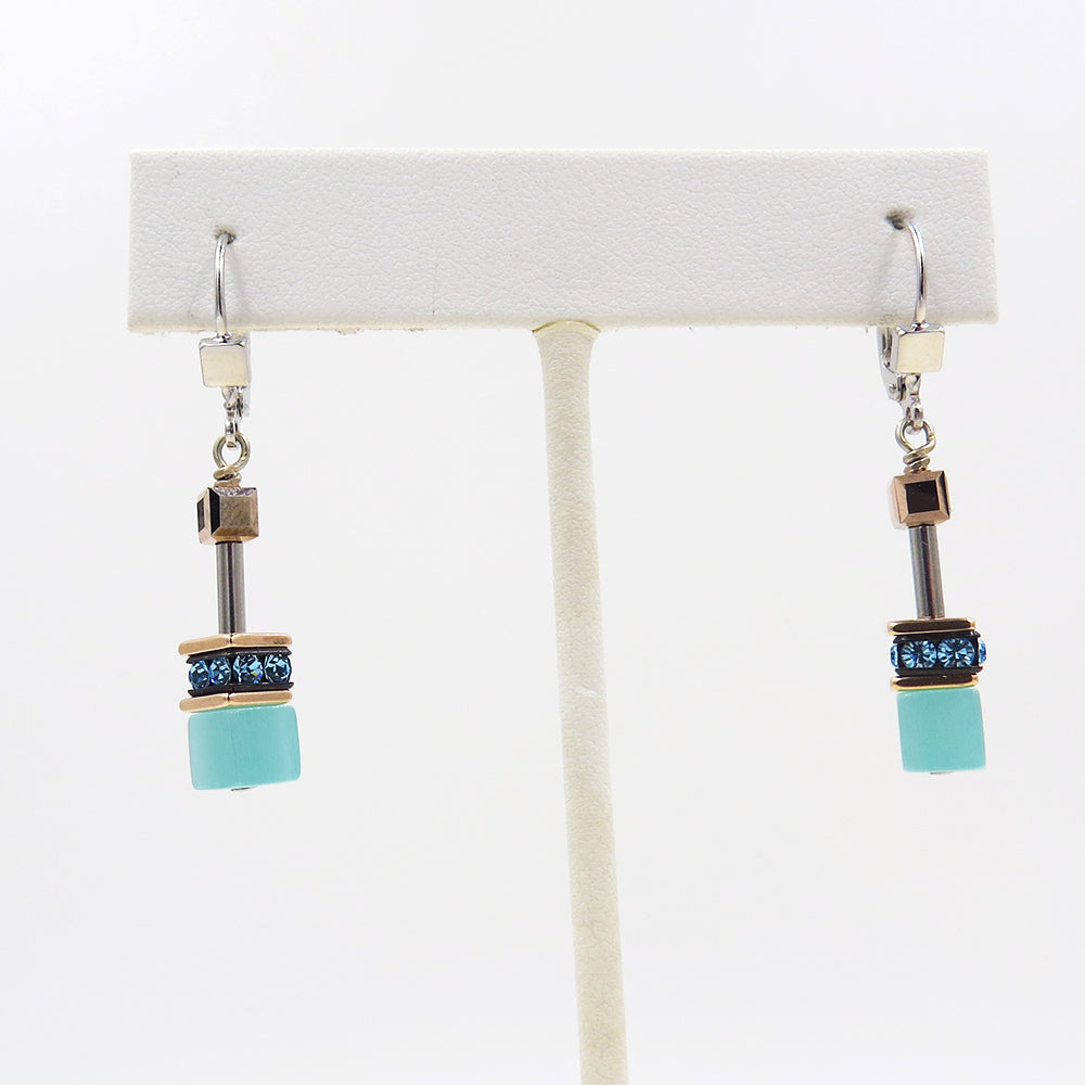 CAT EYE GEOCUBE EARRINGS