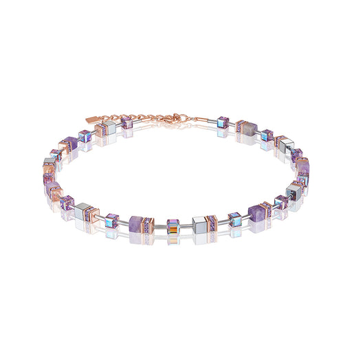 Special Edition Light Amethyst Geo Cube Necklace