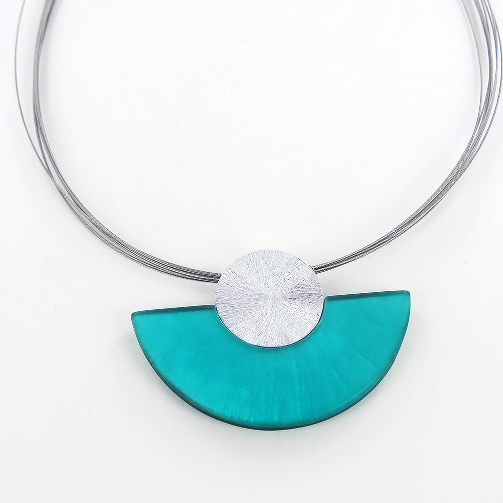 TURQUOISE HALF MOON NECKLACE