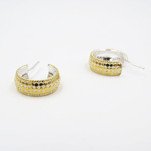 GOLD SMALL DOME HOOP EARRINGS