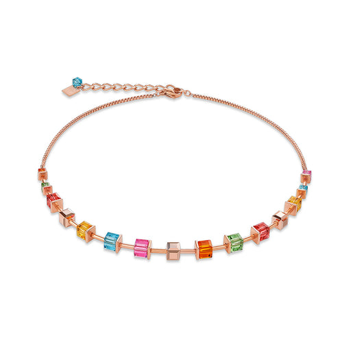 Multi-Color Crystallized Swarovski Cubes Necklace