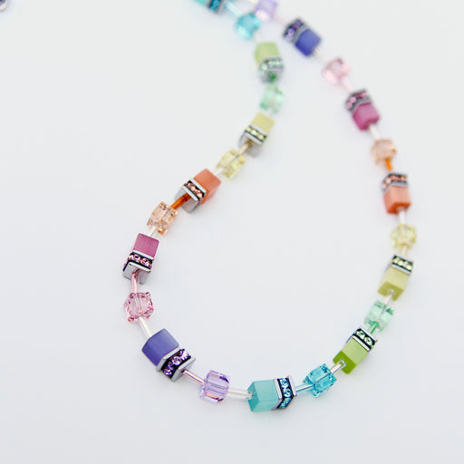 Pastel Rainbow Cat's Eye Necklace