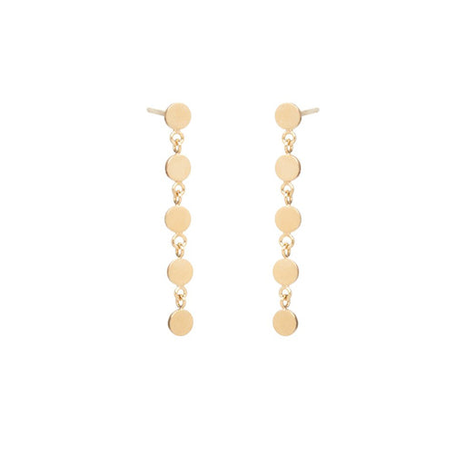 ITTY BITTY ROUND DISC DROP EARRING