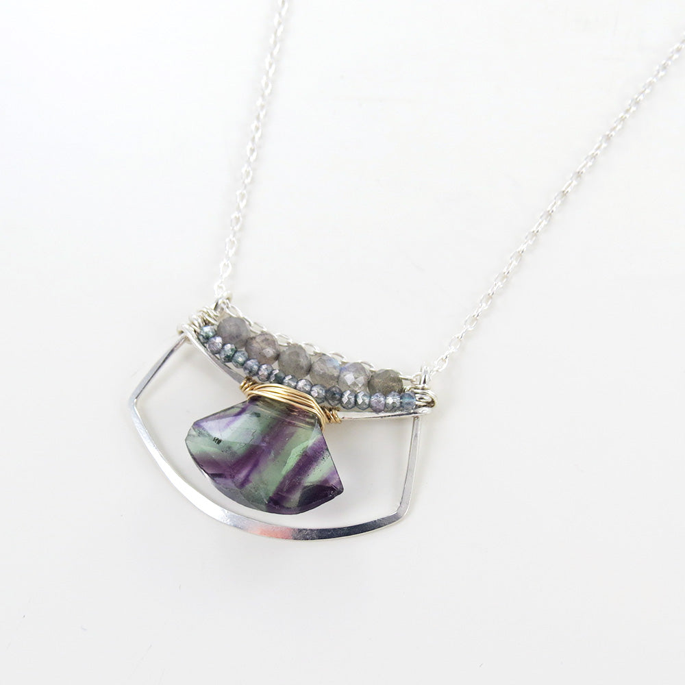 FLOURITE FAN NECKLACE