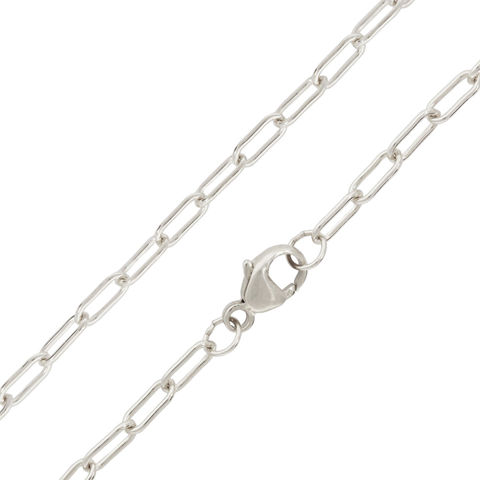"""31"""" STERLING SILVER LONG LINK CHAIN"""
