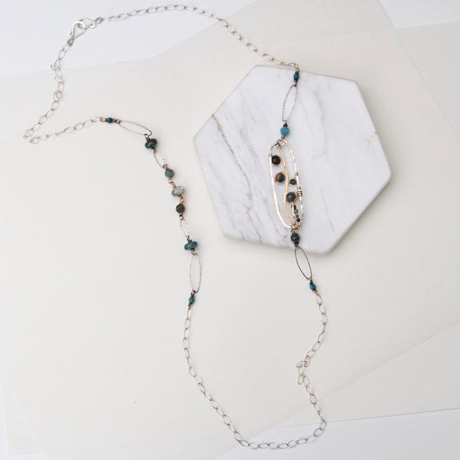 Long Hand Formed Apatite Necklace
