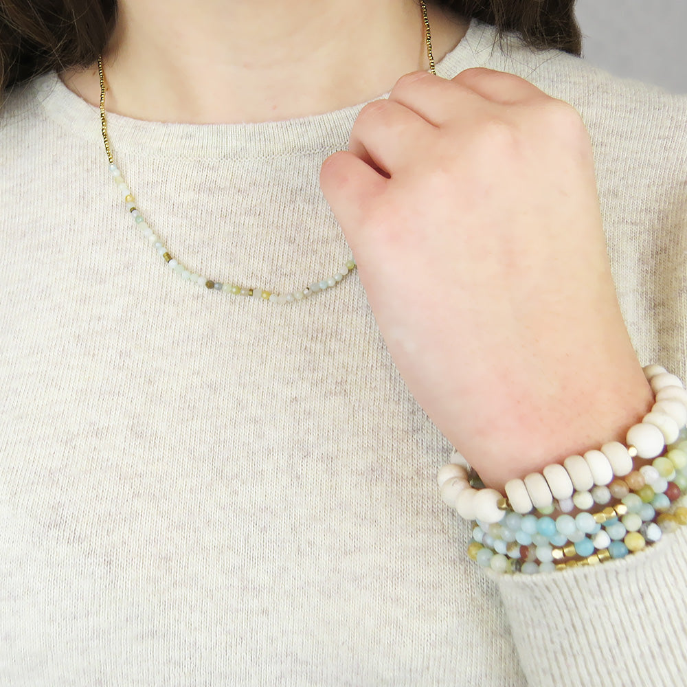 SCOUT WHITE FOSSIL STONE BRACELET