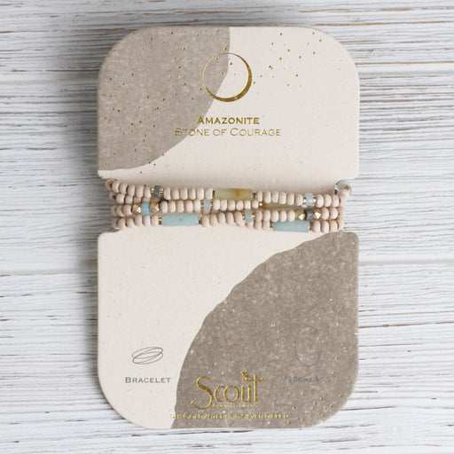Scout Wood & Amazonite Wrap Bracelet & Necklace