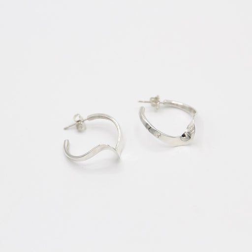 Small Twist Silver Hoop Earring