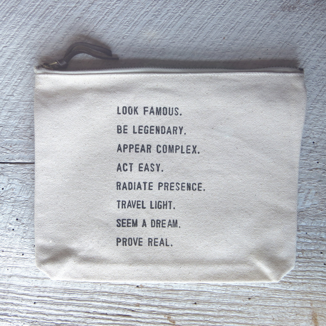 LOOK FAMOUS, BE LEGENDARY CANVAS BAG
