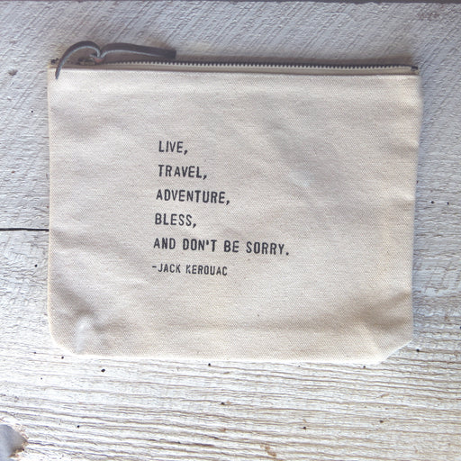 LIVE, TRAVEL, KEROUAC CANVAS BAG