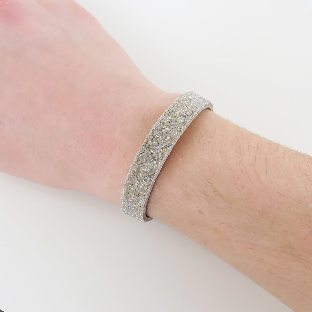 WIDE SAND CLEAR MOONLIGHT BANGLE
