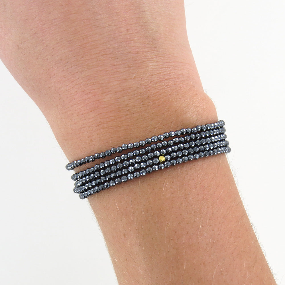 Hematite Wrap Bracelet & Necklace