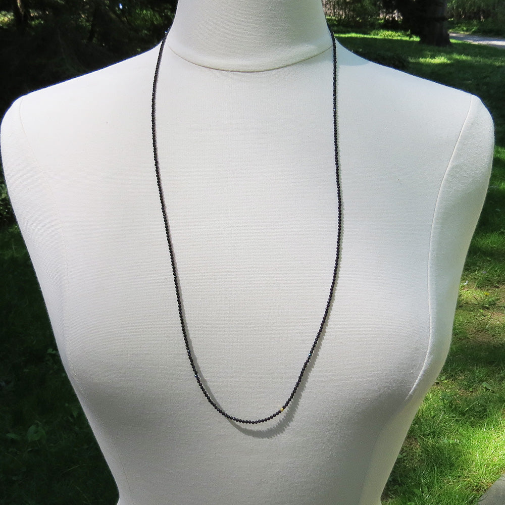 Black Spinel Wrap Bracelet & Necklace