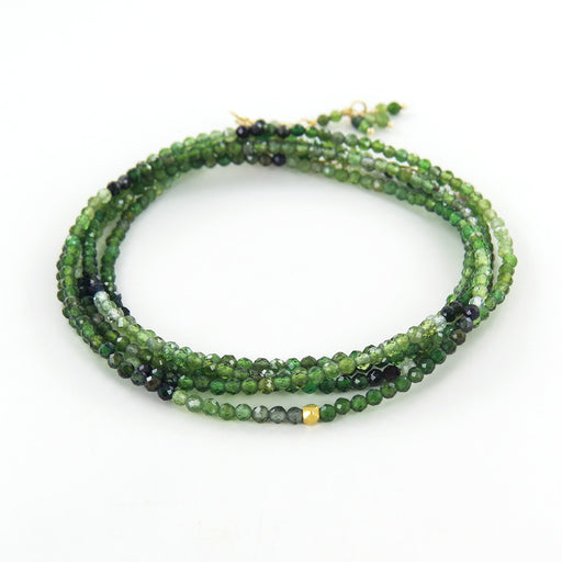 green tourmaline wrap bracelet