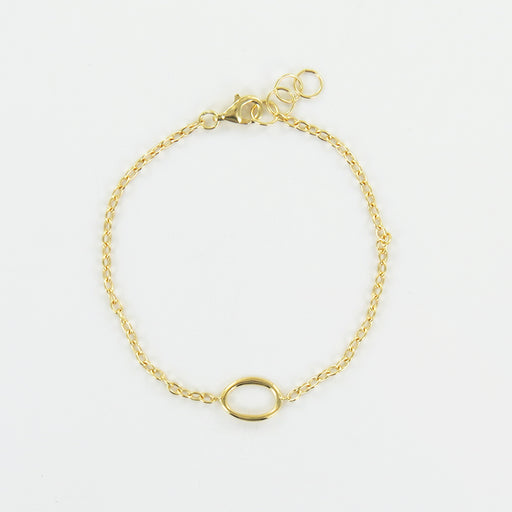 GOLD BRACELET WITH ORGANIC OVAL