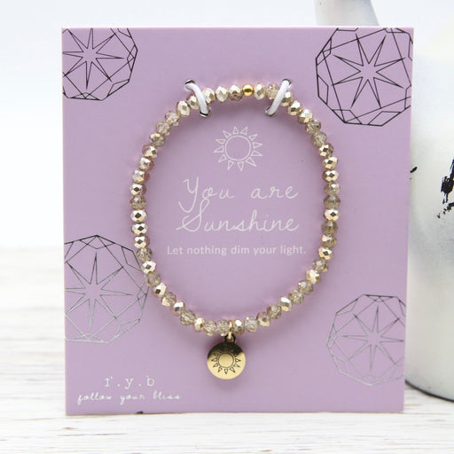 You Are Sunshine ~ Stretch Crystal Bracelet