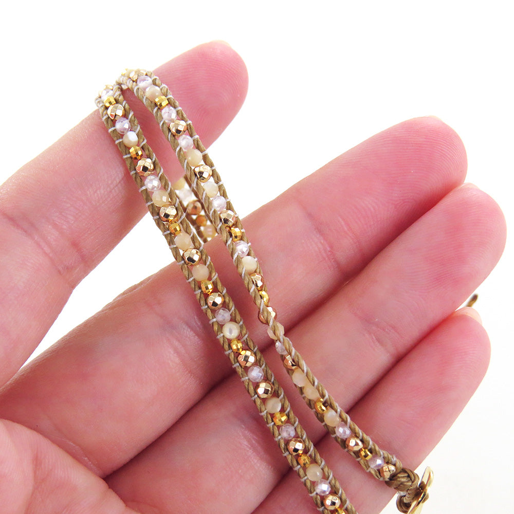 SKINNY NATURAL BEADED WRAP