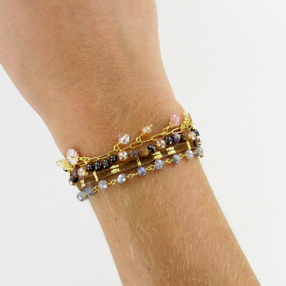 LAYERED CITRINE MIX BRACELET