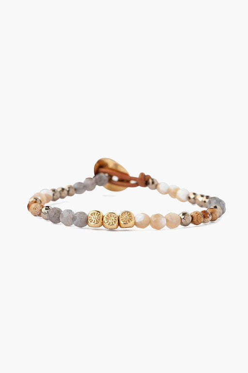 Natural Mix Single Wrap Bracelet