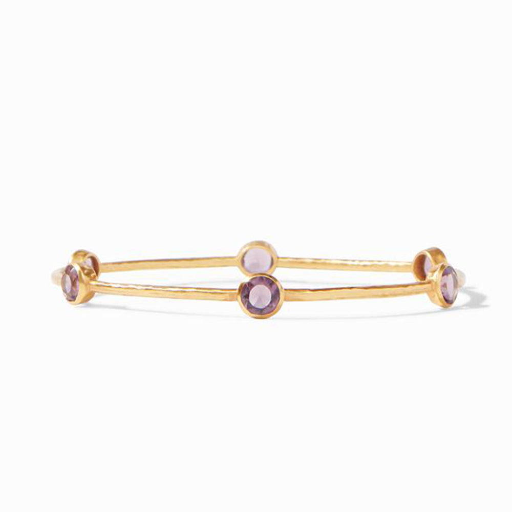 MEDIUM MILANO BORDEAUX BANGLE