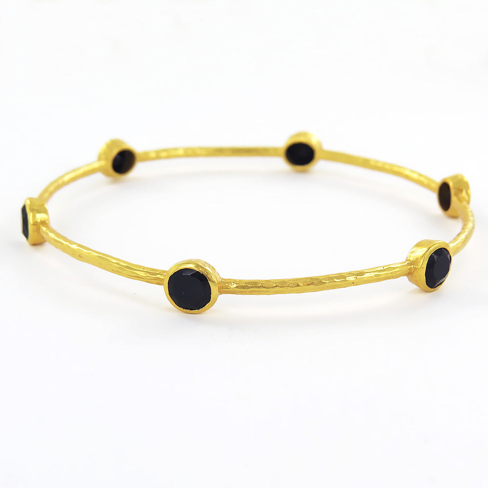 MILANO BLACK ONYX BANGLE