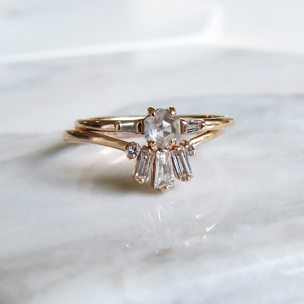 DAWN BLUSH BAGUETTE DIAMOND RING