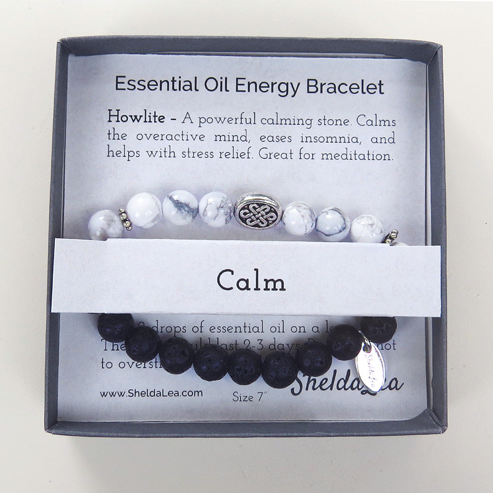 ESSENTIAL OIL ENERGY BRC - WHITE HOWLITE - CALM