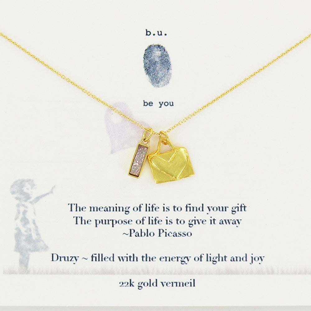 THE PURPOSE OF LIFE GOLD NECKLACE