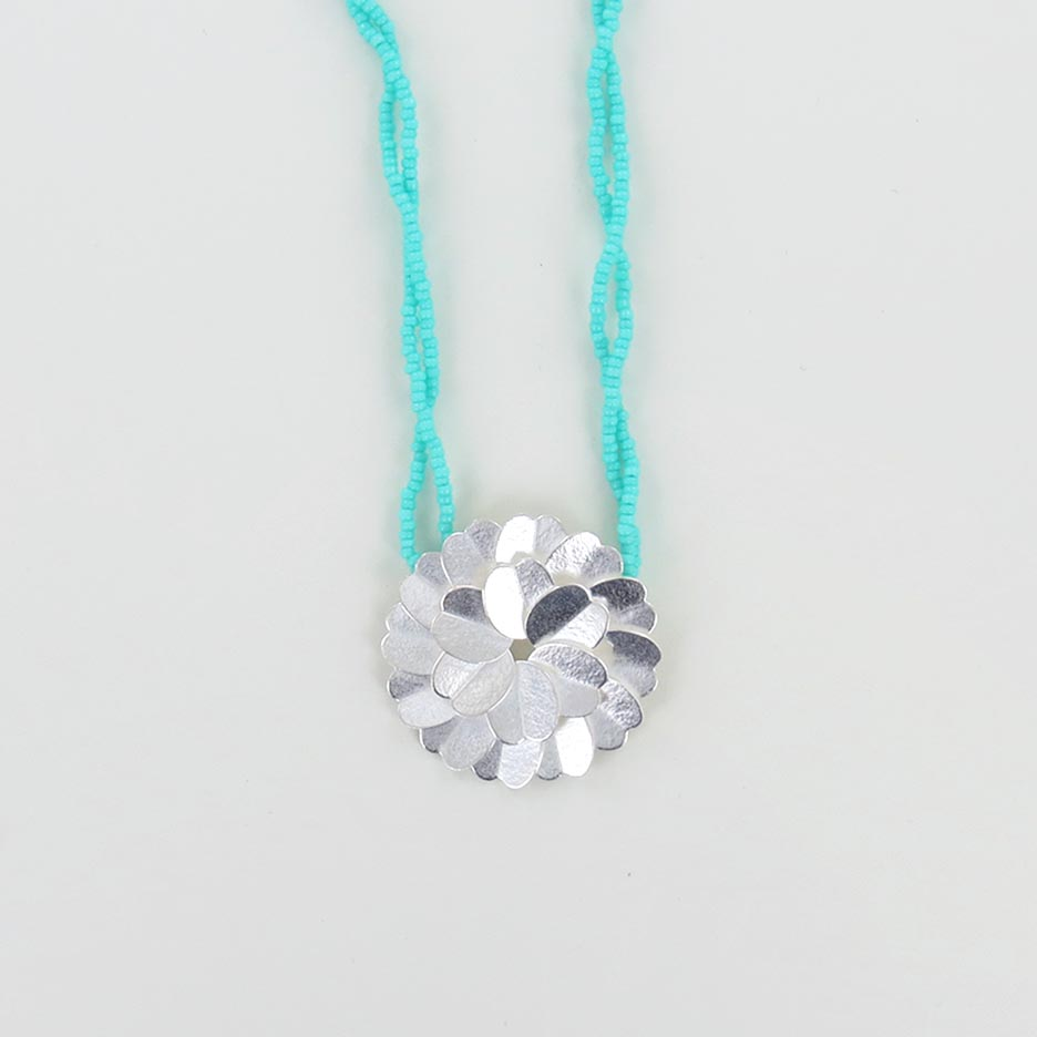 MINT DOUBLE SALVINIA NECKLACE