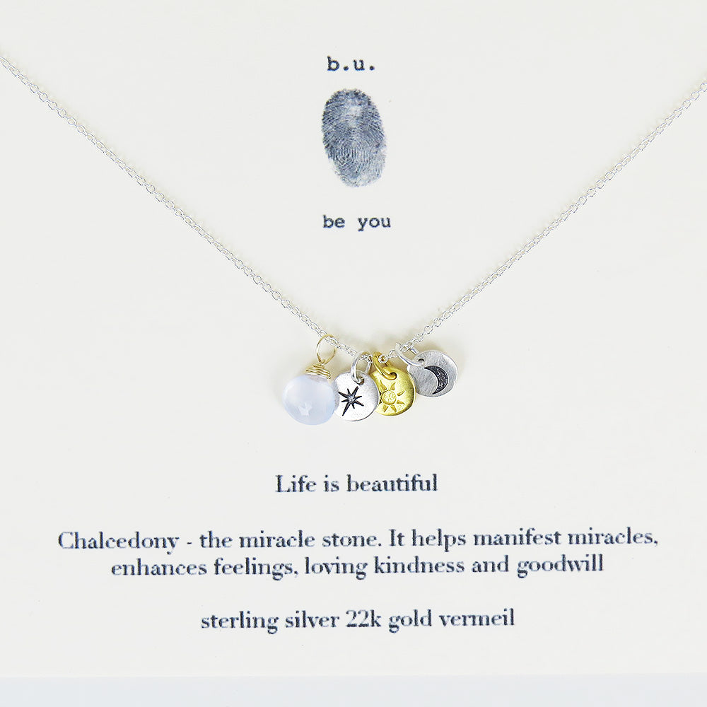LIFE IS BEAUTIFUL NECKLACE
