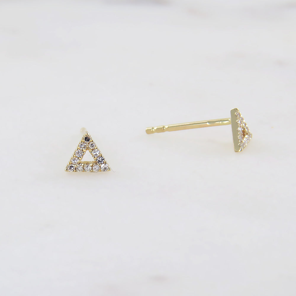 GOLD SMALL OPEN DIAMOND TRIANGLE