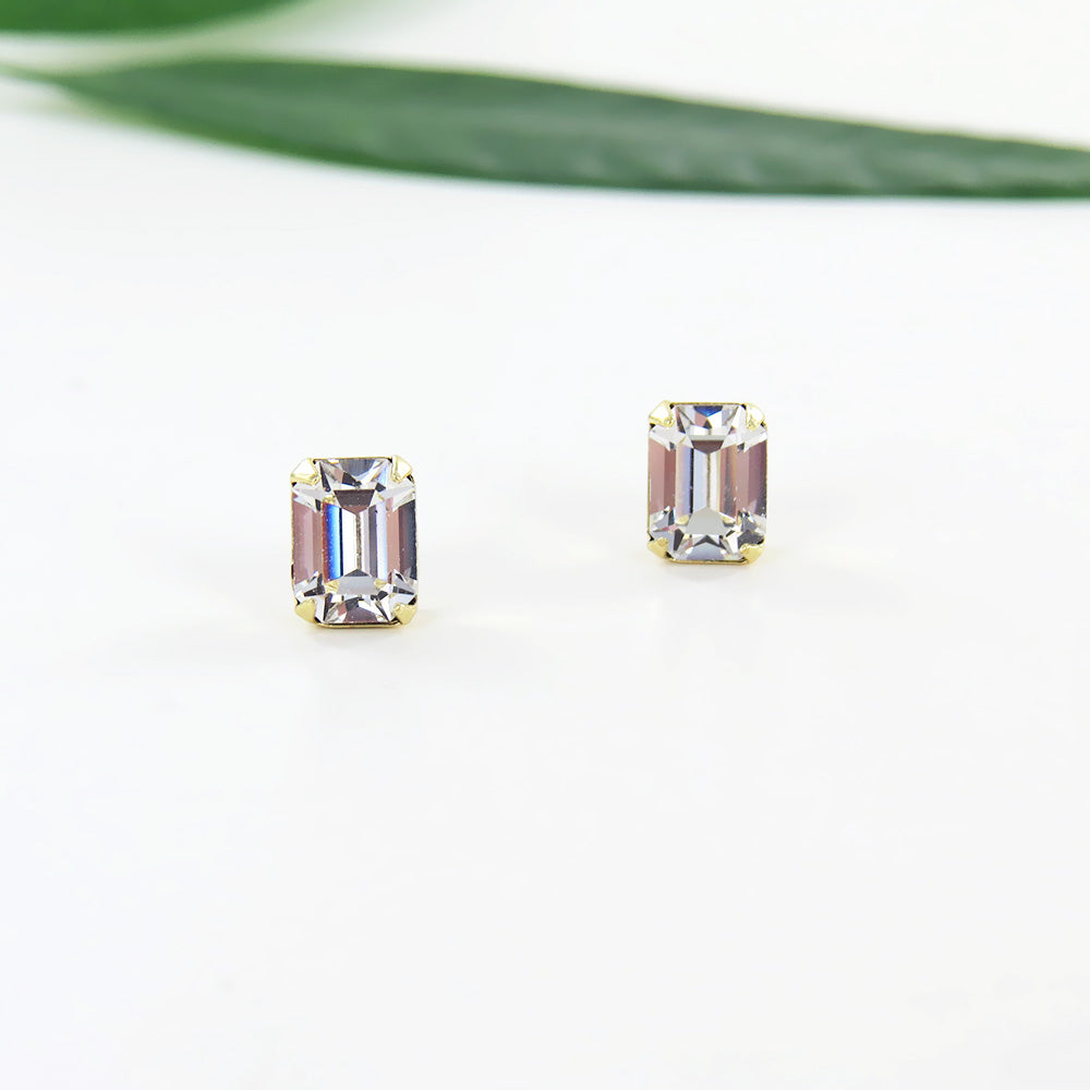 EMERALD CUT STUD