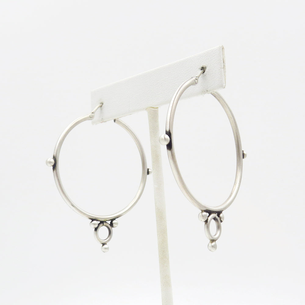LARGE HOOPS WITH RING AND BALL