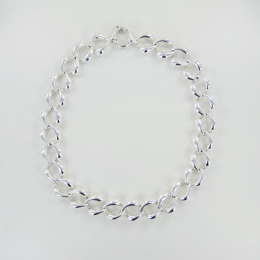LARGE OVAL LINK ELECTROFORM NECKLACE
