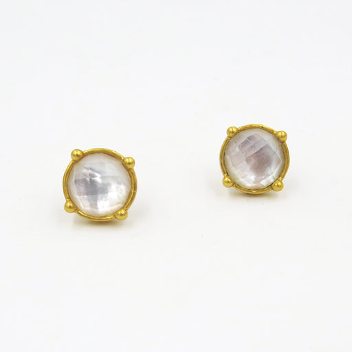 CLEAR CRYSTAL HONEY STUDS