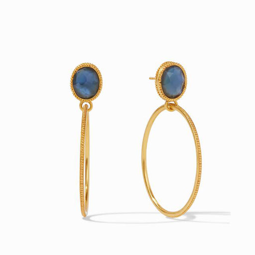 VERONA IRIDESCENT BLUE AZURE STATEMENT EARRING