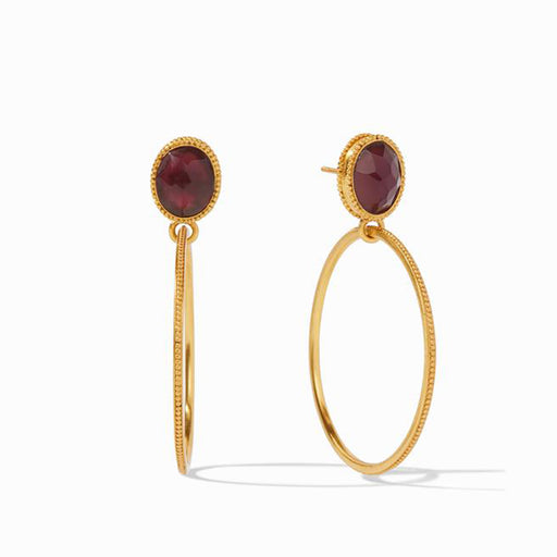 VERONA IRIDESCENT BORDEAUX STATEMENT EARRING