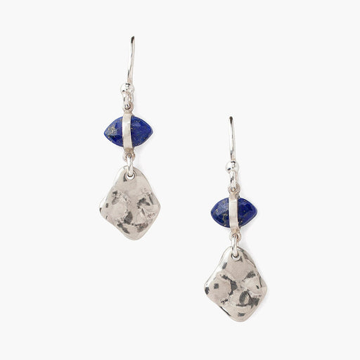 Silver & Lapis Drop Earring