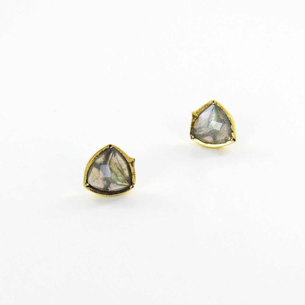 PERRIAN IN LABRADORITE POST EARRINGS